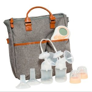 Motif breast pump tote bag